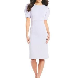 Alex Marie Nell Puffed Sleeve Midi Dress